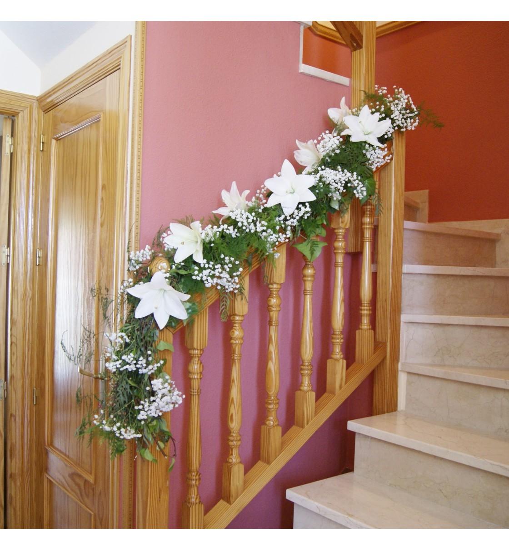 decoraci n casa de la novia con lilium blanco y paniculata