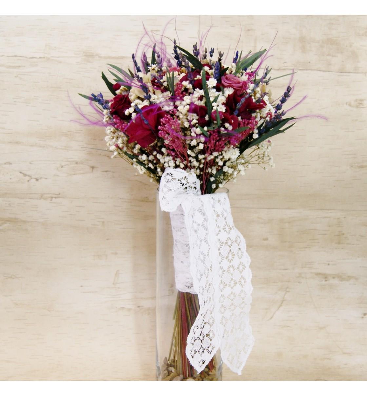 Ramo De Novia Con Flor Seca Y Preservada En Tonos Burdeos ~ Ramos De Novia Flores Preservadas