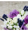 Ramo de novia cosas rosas lila y lavanda