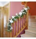 Decoración casa novia con lilium blanco