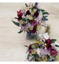 Ramo miniatura con flor seca y preservada