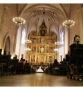 Decoración Catedral de Ciudad Real con lilium, paniculata y alstroemeria blanca