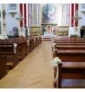 Decoración Iglesia San Bartolomé, Almagro, con hortensia