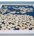 Cuadro de firmas hucha con corazones azul