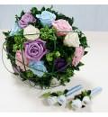 Ramo de novia preservado con rosas