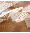 Sombrillas para boda de bambú