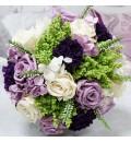 Ramo de novia preservado con rosas y clavel