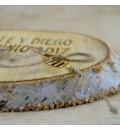 Madera grabada para anillos