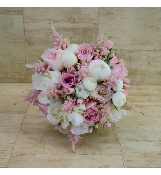 ramo-de-novia-con-rosa-inglesa-peonia-y-