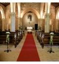 Decoración Ermita de Alarcos con hortensia y limonium