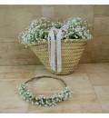 Capazo para arras de boda paniculata