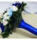 Ramo de novia preservado con calas y rosas mini