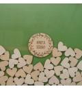 Cuadro de firmas hucha cartel circular verde