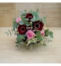 Ramo de novia con gerberas, rosas y eucalipto