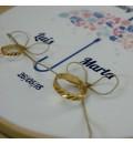 Bastidor para anillos paraguas rosa y azul