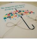 Bastidor para anillos paraguas multicolor
