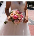 Ramo de novia con peonias y rosa inglesa juliet
