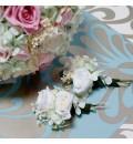 Ramo de novia preservado con rosas y hortensia pastel