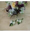 Ramo de novia silvestre con astilbe, astrantia y rosas