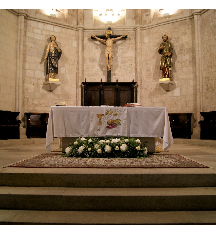 Decoración San Pedro hortensia, rosa y paniculata