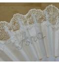 Abanico para novia nombre bordado