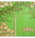 Cuadro de firmas hucha árbol dos hojas