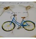 Bastidor para anillos bici azul