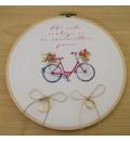 Bastidor para anillos bici rosa