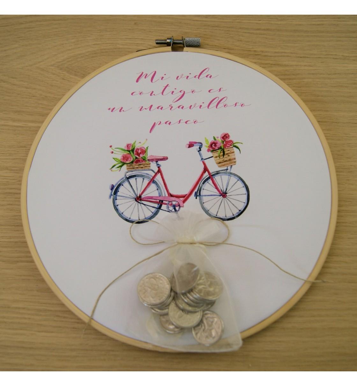 Bastidor para arras bici rosa
