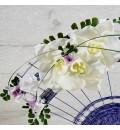 Ramo de novia preservado abanico con orquidea