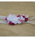 Cinta diadema para niña hortensia blanca