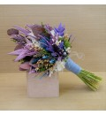 Ramo de novia preservado silvestre tonos lila