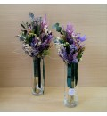 Ramo réplica para dama de honor preservado lila