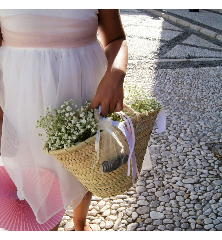 Capazo para arras de boda sin decoración