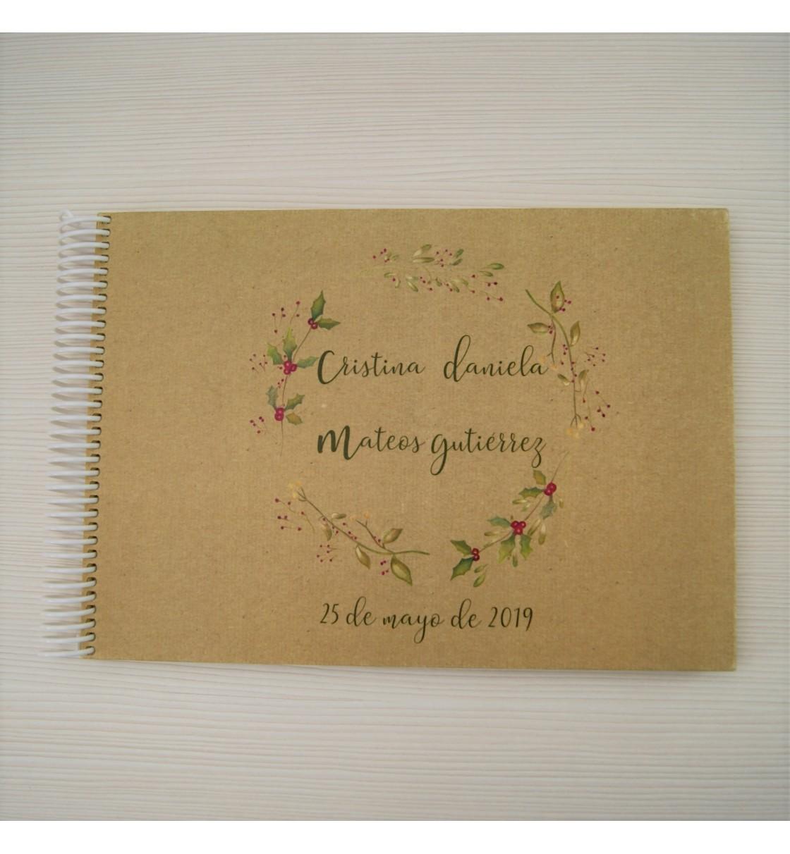 Libro de firmas boda corona invernal