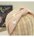 Diadema nudo sinamay nude con mariposas