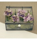 Horquilla con flor preservada lila