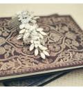 Tocado de novia mariposas de metal y cristales
