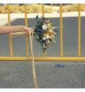Ramo de novia preservado con rosa lila y flor mostaza