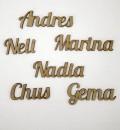 Nombres de madera para invitados